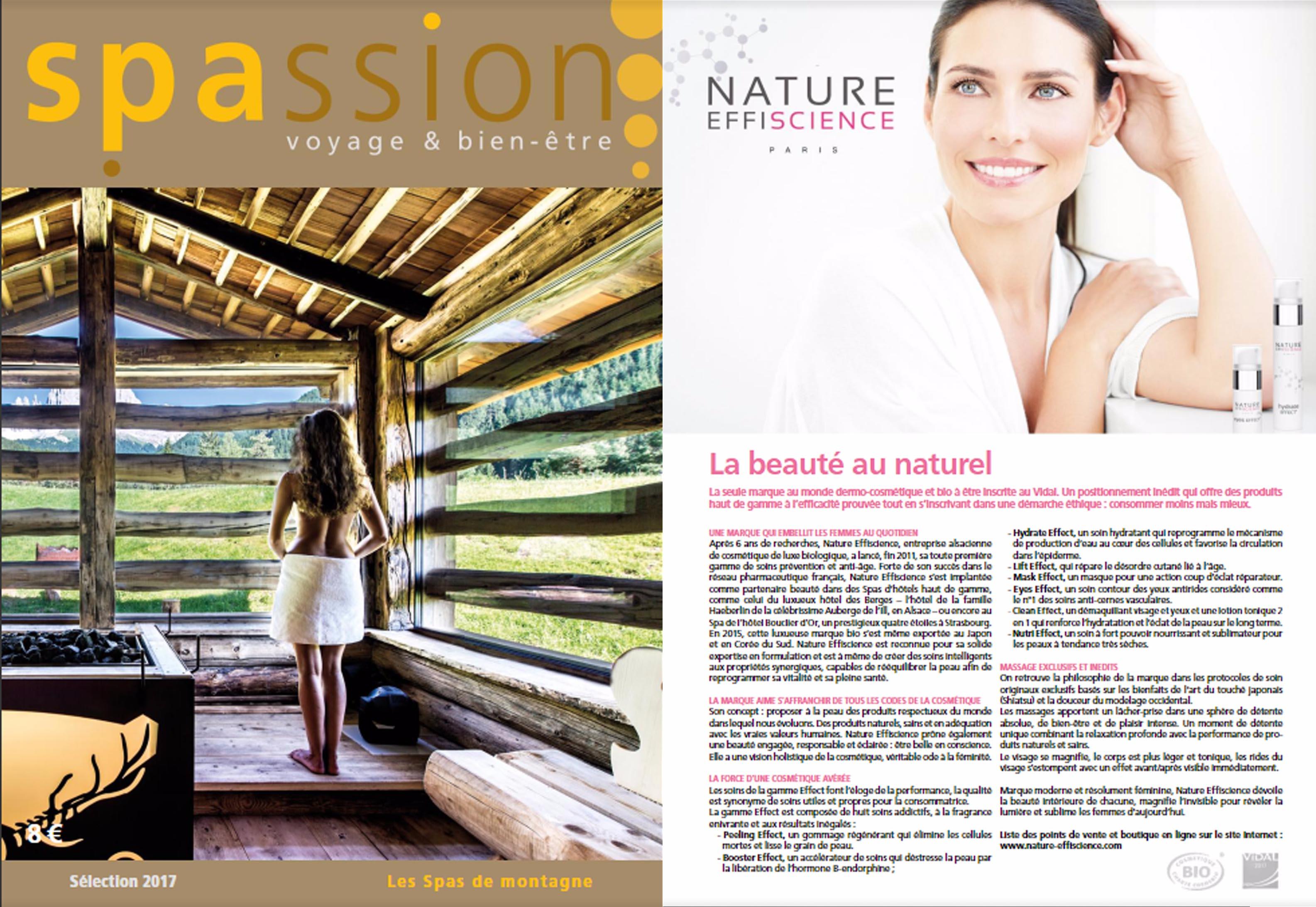 Nature Effiscience dans Spassion magazine